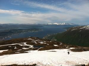 View above Tromsø