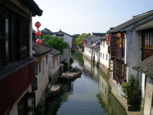 Scene from Zhouzhuang water town excursion